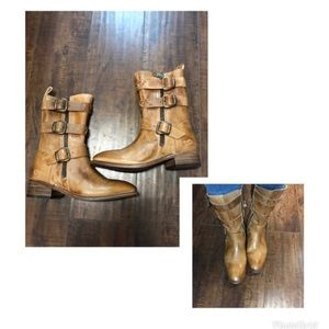 Bed Stu Blanchett tan buckle boots HOST PICK